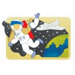 andZee Naturals Wooden Puzzle - Space Astronaut