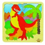 andZee Naturals Wooden Double Layered Puzzle - Dinosaur & Bones