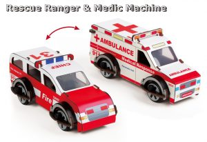 Buildex Rescue Ranger & Medic Machine - Build, Play, Connect