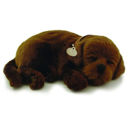 Perfect Petzzz Breathing & Sleeping Toy Puppy - Chocolate Lab
