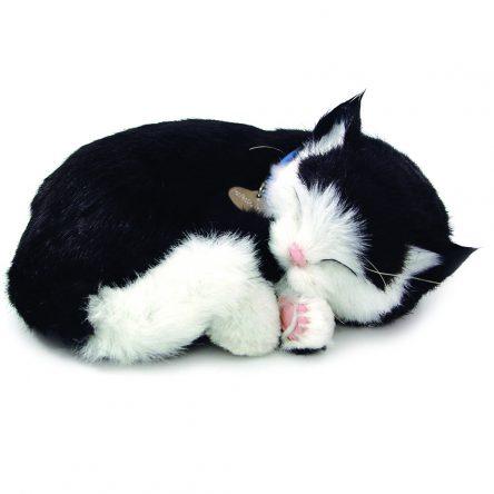 Perfect Petzzz Breathing & Sleeping Toy Kitten - Blk & White