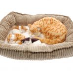 Perfect Petzzz Breathing Sleeping Mother Cat & Kittens Toy