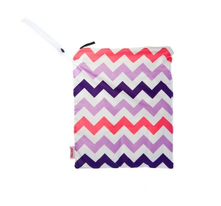 Nuby Laundry Wet Bag - Pink Chevron