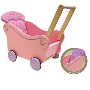 I'm Toy Wooden Doll Buggy Pram - Pink