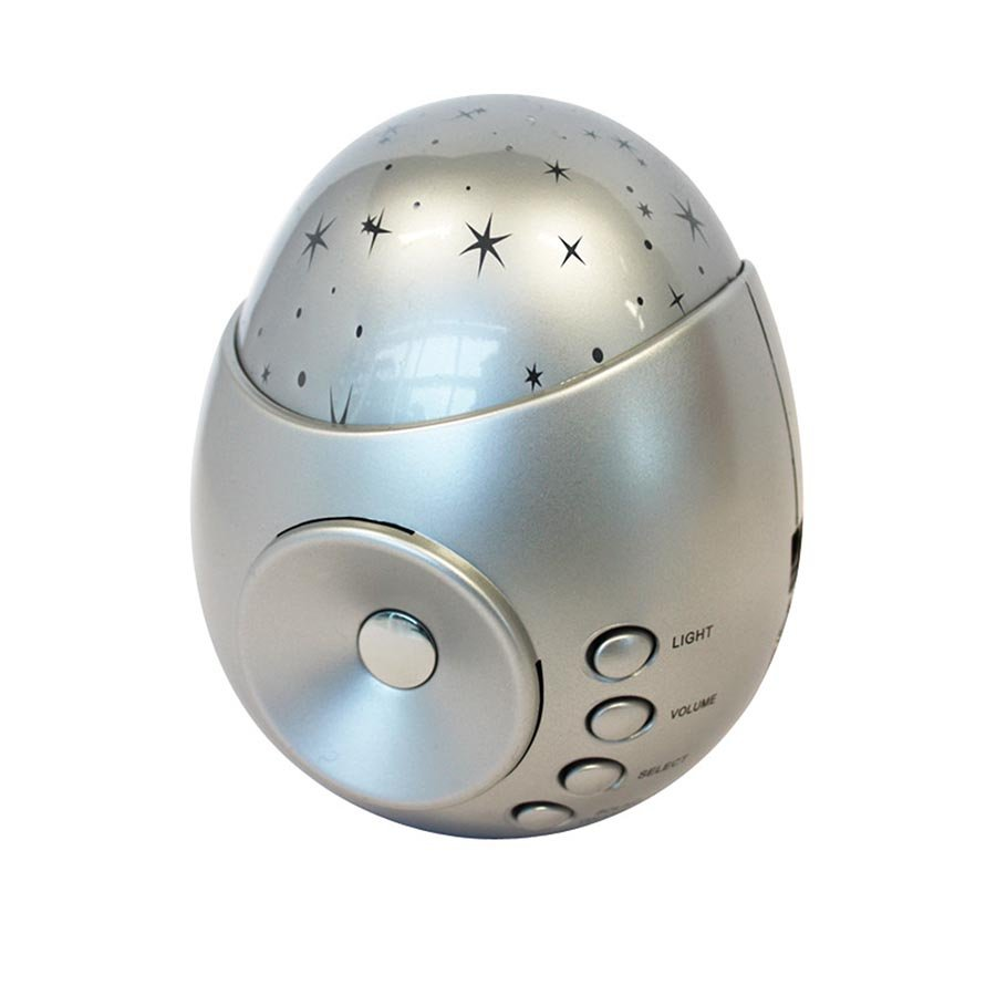 Is Gift Galaxy Star Projector Amp Sound Machine Silver