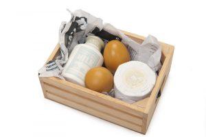 Le Toy Van Wooden Eggs, Dairy Milk & Cheese in Crate