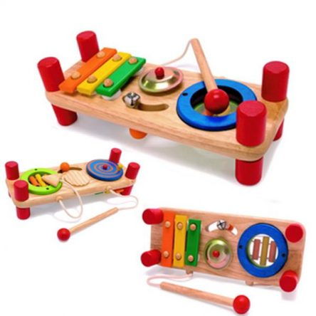 I'm Toy Wooden Tutti Tune Double Sided Musical Toy - 7 in 1