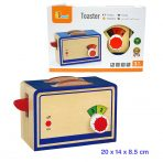 Viga Toys Wooden Toaster with 2 slices Bread