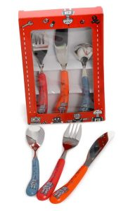 Egmont Kids Mini Cutlery Set - Fork, Spoon, Knife - Robots