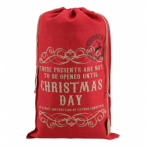 Red Hessian Giant Christmas Gift Santa Sack - Christmas Day