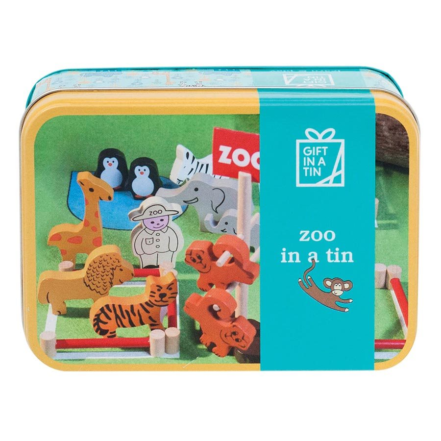 Apples To Pears Zoo Animals In A Tin Playset Baby Vegas
