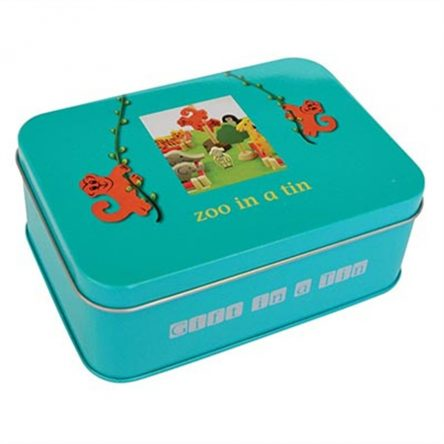 Apples to Pears Zoo Animals in a Tin Playset
