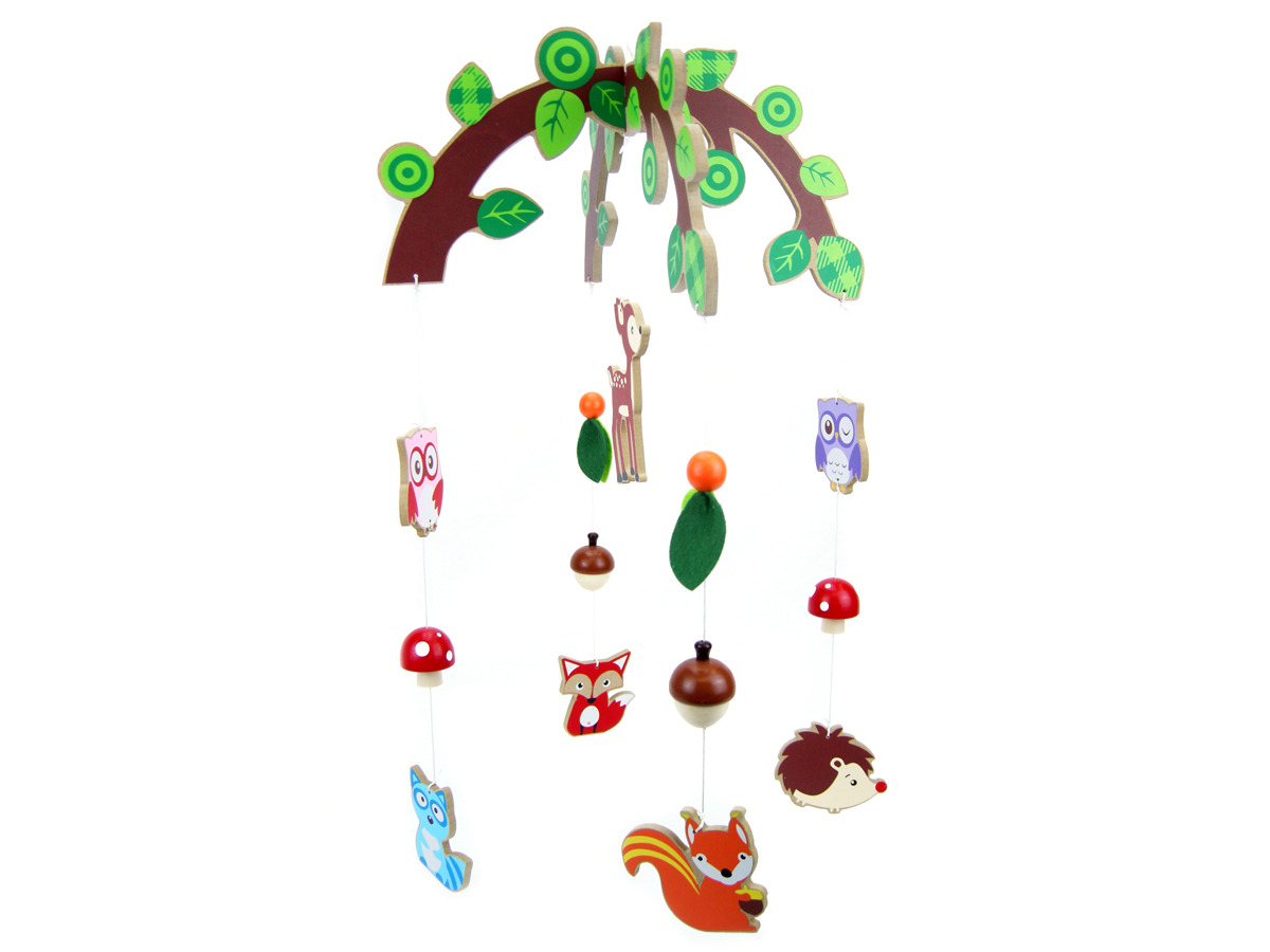 Wooden Nursery Mobile Forest Friends