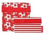 Sachi Lunch Pockets Set - SANDWICH & SNACK - Reusable - Soccer