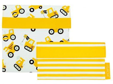 Sachi Lunch Pockets Set - SANDWICH & SNACK - Reusable - Trucks
