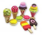 Discoveroo Wooden Ice Cream and Desserts Play Set 9pc