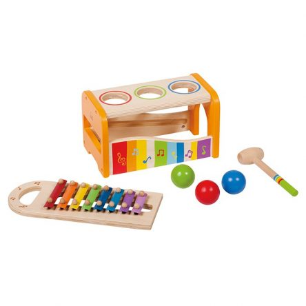 Hape Early Melodies Pound & Tap Bench with Xylophone