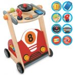 I'm Toy Wooden Racing Car Baby Walker