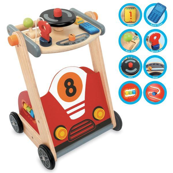 8b06b4057 I m Toy Wooden Racing Car Baby Walker