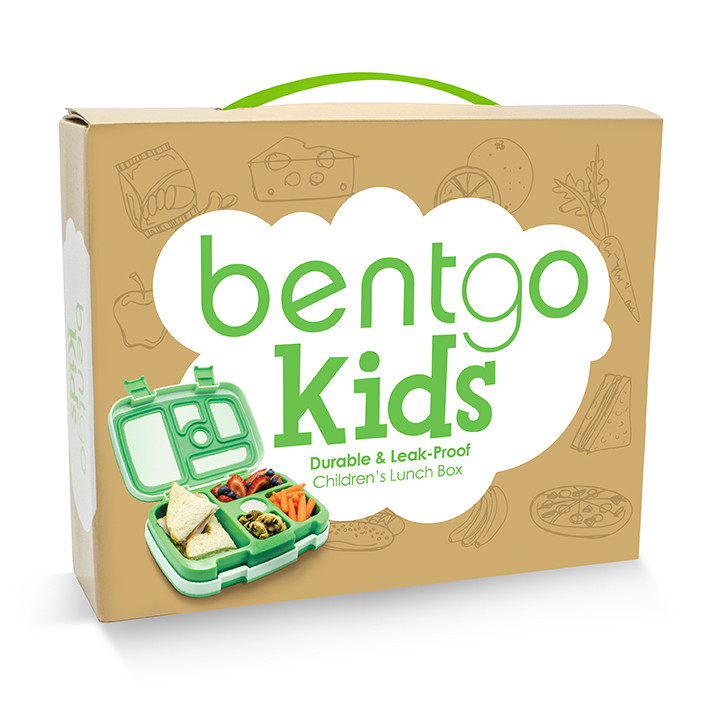 bentgo kids children 39 s bento lunch box green. Black Bedroom Furniture Sets. Home Design Ideas