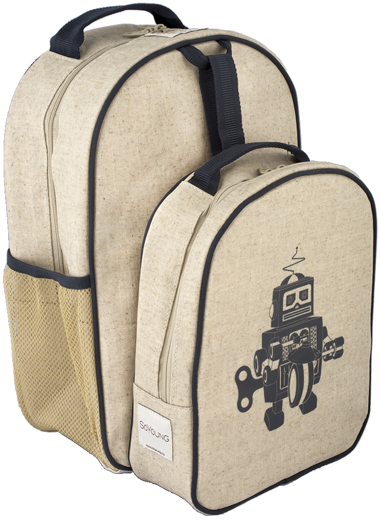 fc96ded82487 So Young Toddler Backpack & Insulated Lunch Bag Set Grey Robot
