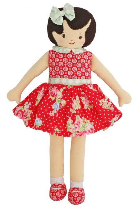 Alimrose Designs Violet Doll - Red Floral