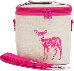 So Young Insulated Lunch Bag Box Small Cooler Bag - Pink Fawn