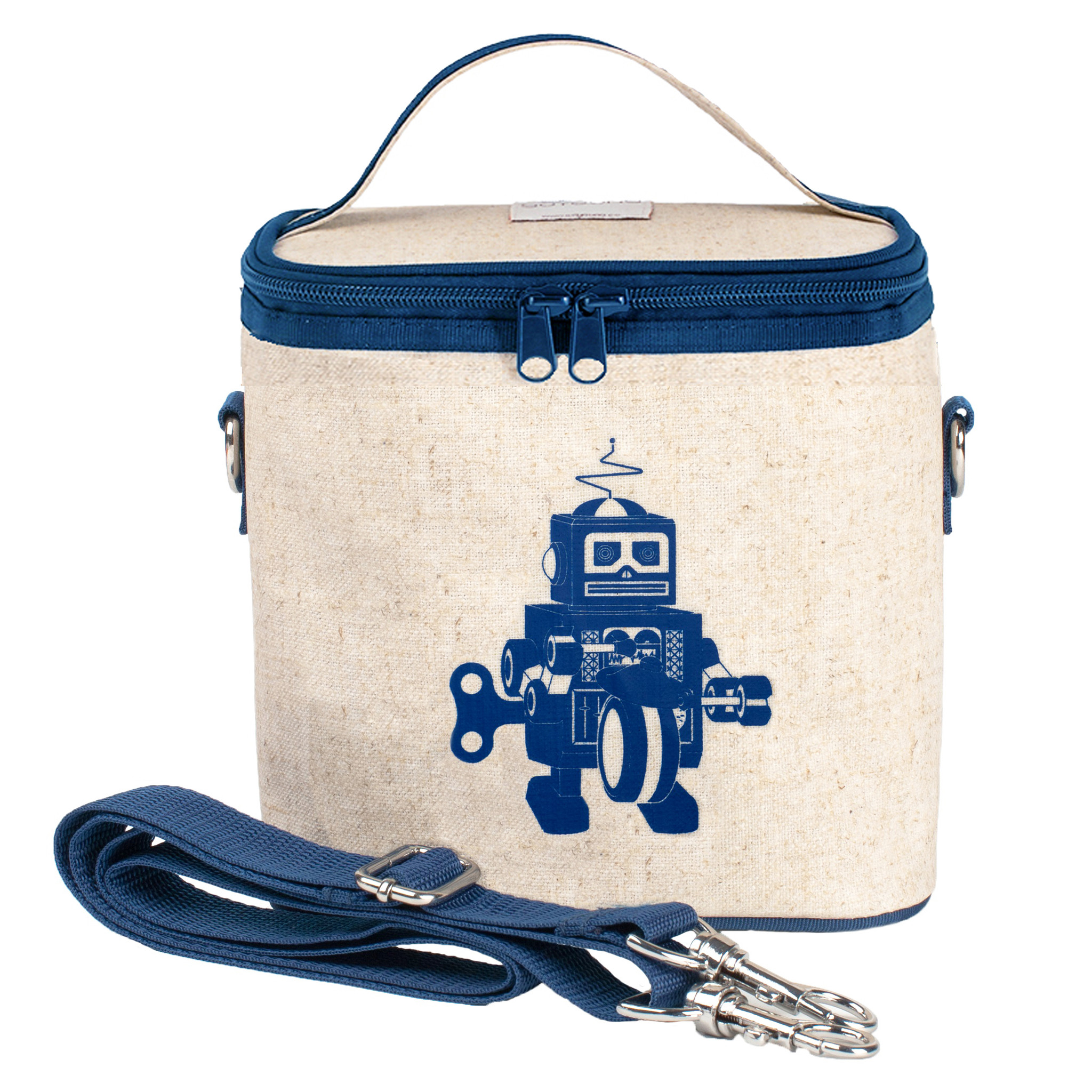 So Young Insulated Lunch Bag Box Small Cooler Bag - Blue Robot d646f1b5e6663