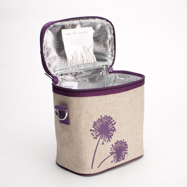 so young insulated lunch bag small cooler bag purple dandelion. Black Bedroom Furniture Sets. Home Design Ideas