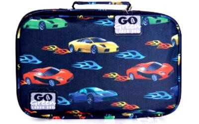 Go Green Lunch Box Set Fast Flames Cars Blue Box