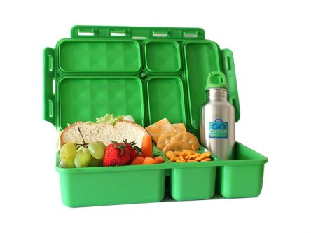 Go Green Lunch Box Set - In Check - Red & Black