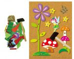 Kaper Kidz Wooden FAIRY TAP A SHAPE Set w/ Cork Board and Nails