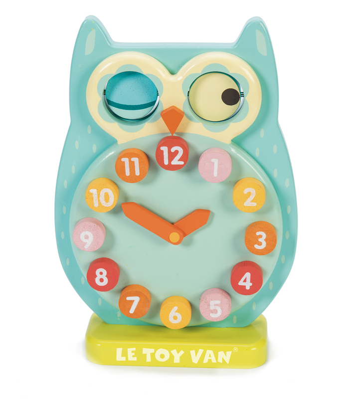 Le Toy Van Petilou Wooden Blink Owl Clock