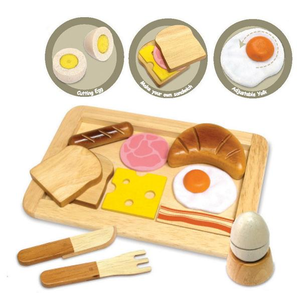 Dirt Cheap Decor Play Kitchen And Food Diy: Bread, Eggs, Tray & Cutlery