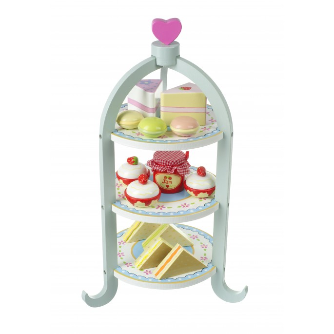 Orange Tree Toys Afternoon Tea Cake Amp Sandwich Set With Stand
