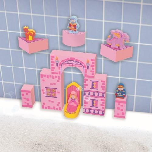 Bath Blocks Pink Floating Castle Set