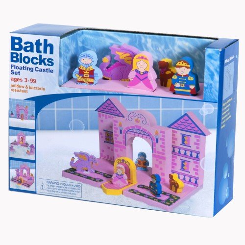 Bath Blocks Pink Floating Castle Set Baby Vegas