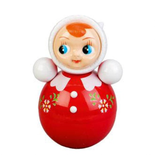 Kitsch Kitchen Tumbler Toy Doll Roly Poly Doll Red