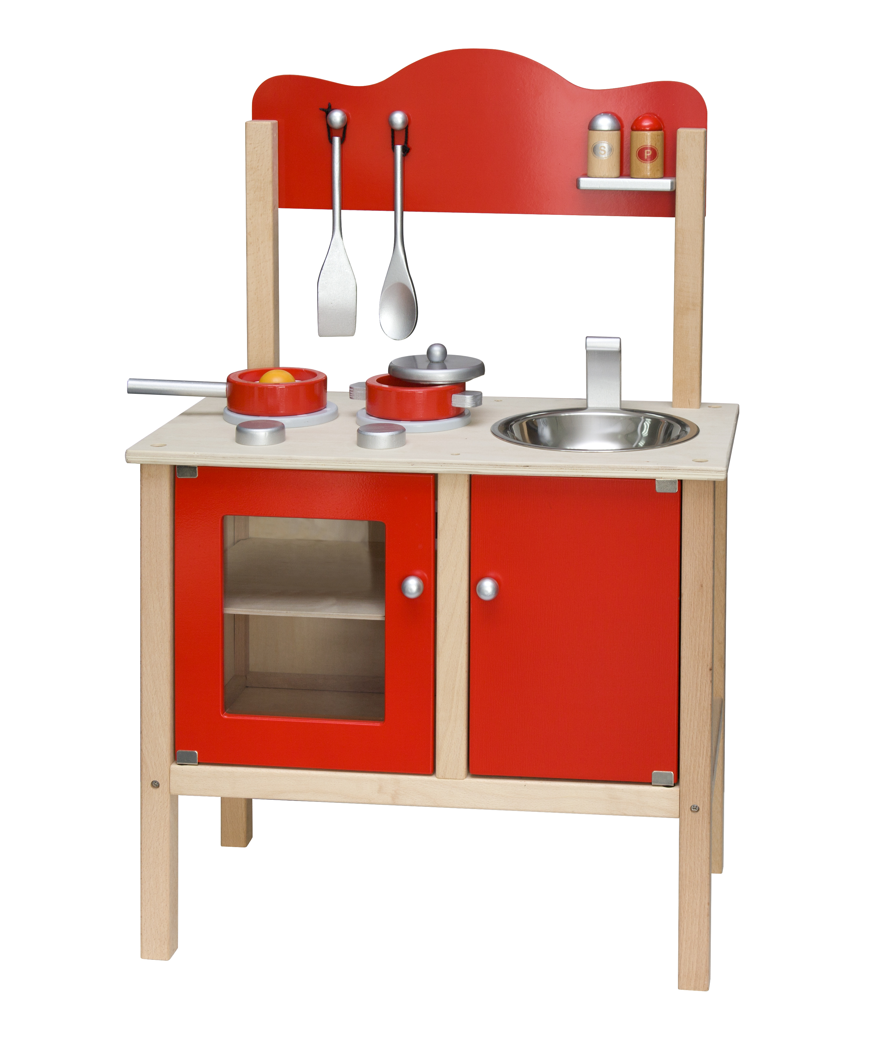 viga toys noble wooden kitchen with accessories