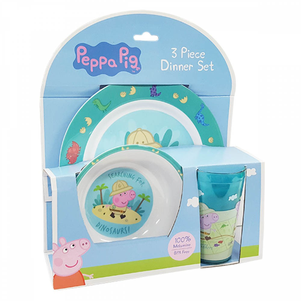 Peppa Pig 3pc Dinner Set ...  sc 1 st  Baby Vegas & Peppa Pig 3pc Dinner Set - Plate Bowl \u0026 Cup - Blue - George | Baby ...