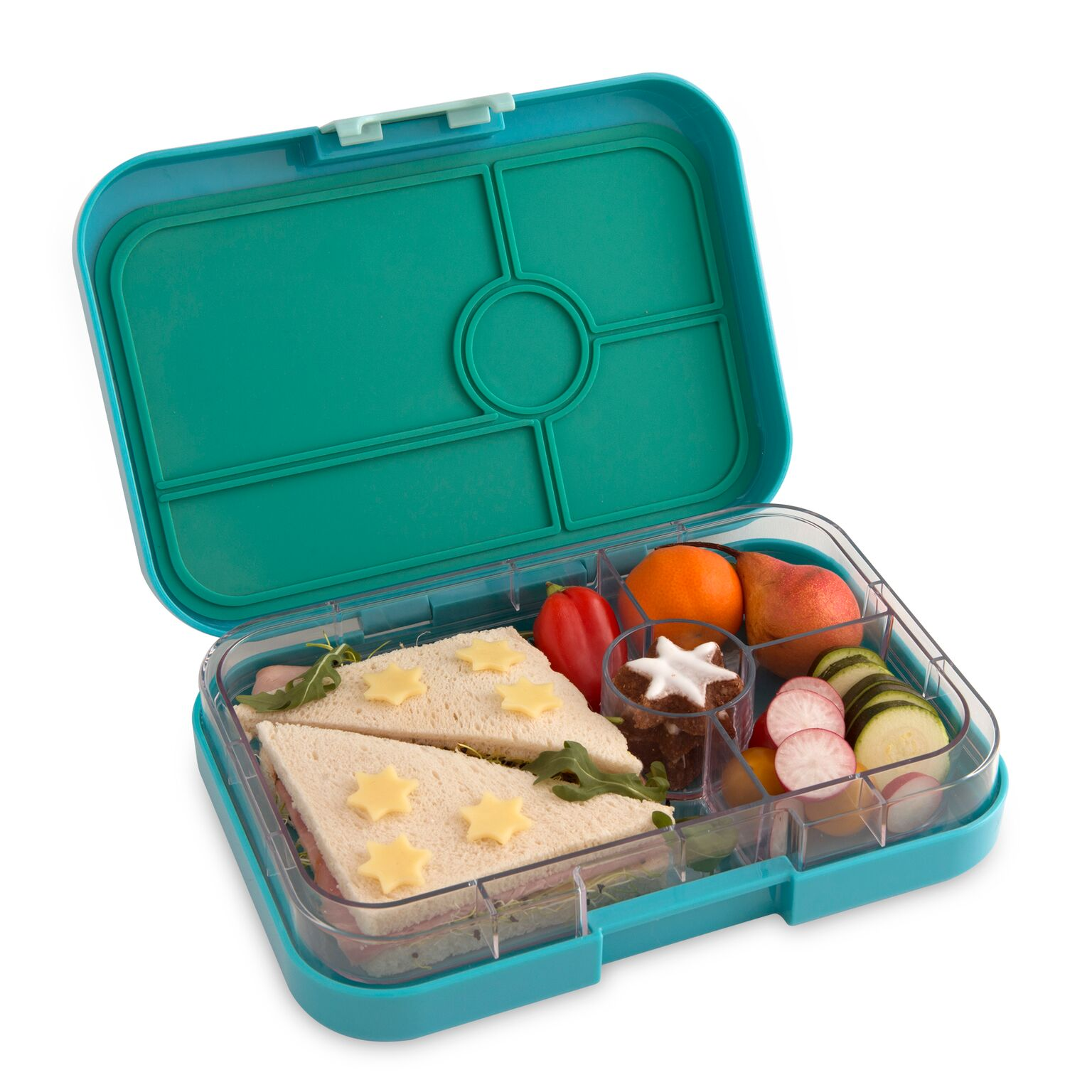 yumbox tapas lunch box 4 compartment antibes blue baby vegas. Black Bedroom Furniture Sets. Home Design Ideas