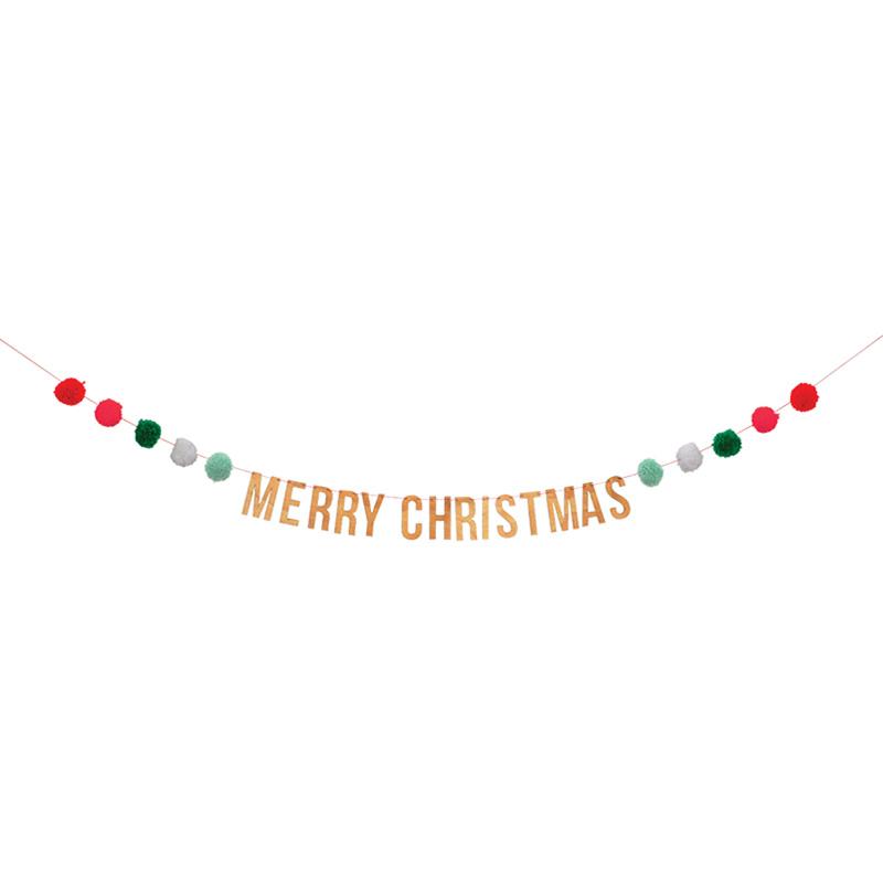 meri meri merry christmas pom pom garland